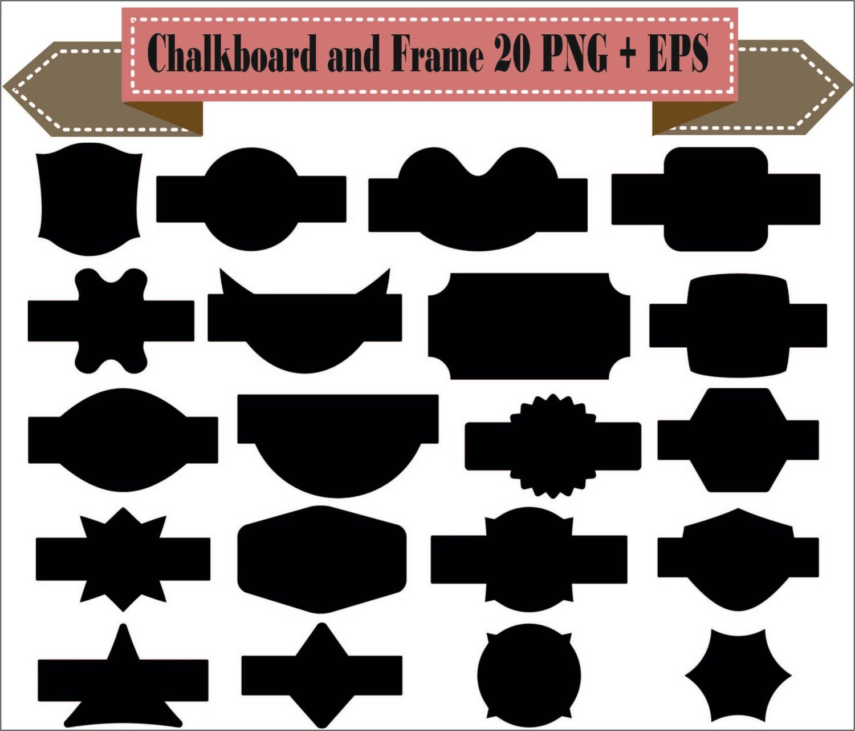 Tafel Rahmen Anstecker Vintage-Label Motiv Formen Pack