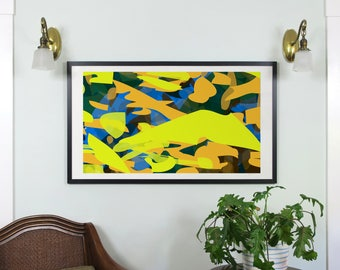 "Abstract Composition: Aspen_08_01a - Contemporary Art - Abstract Design - 46"" x 26"" and 19"" x 13"" - Limited Edition Print"
