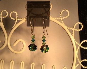 Sterling Silver and Swarovski Crystal Earrings