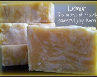 Lemon - Rustic Suds Natural - Organic Goat Milk Triple Butter Soap Bar - 5-6oz. Each