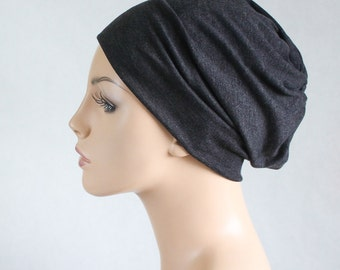 Charcoal Gray Turban Head Band, Yoga headband, Wide Headband, Pretied Turban, Chemo Hat 298-18a