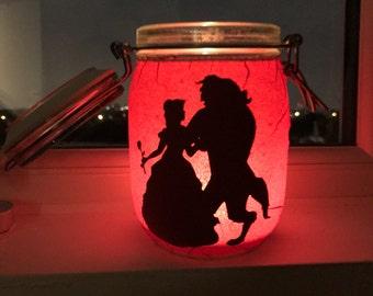 Beauty & The Beast candle jar