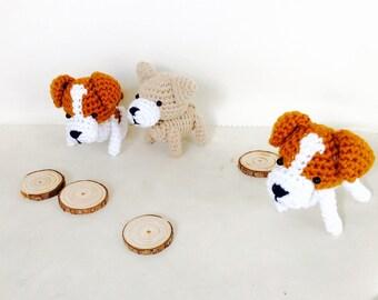 Crochet Miniature Dog, Dog Key Charm, Crochet Dog Keyring, Crochet Dog, Dog Plush Toy, Handmade Amigurumi Dog, Crocheted Dog, Crochet Dog