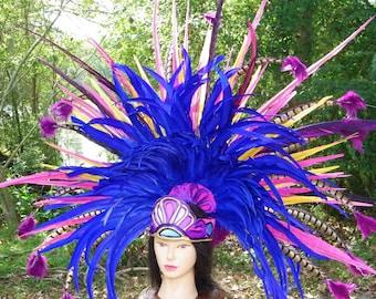 Beautiful large Aztec Headdress