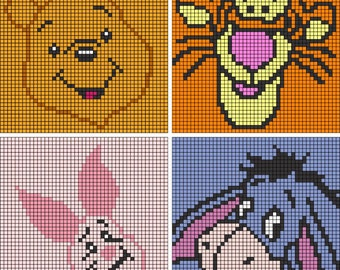 Winnie the Pooh Collection C2C crochet patterns (*Pattern ONLY*)