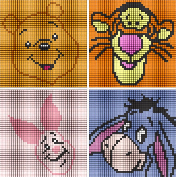 Winnie The Pooh Collection C2c Crochet Patterns Pattern
