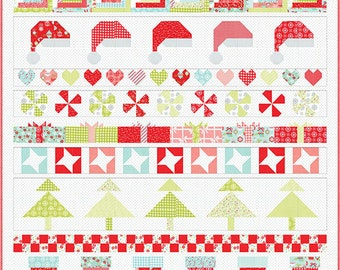 Vintage Holiday Quilt Kit - Bonnie & Camille - Christmas Cheer Quilt Kit - Moda Fabric - Quilt Kit - Christmas Quilt - Christmas