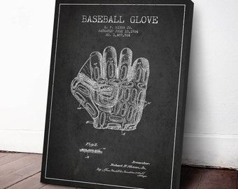 1924 Baseball Glove Patent, Baseball Print,  Baseball Art, Baseball Decor, Baseball Art Print, Home Decor, Gift Idea, SPBA09C