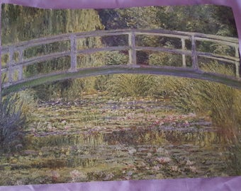 Masterpiece Painting Art Print The Water-Lily Pond Claude Monet International Masters Publishers French Impressionism & 1800s engagement | Etsy