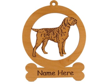 Wirehaired Pointing Griffon Wood Dog Ornament 084245 Personalized With Your Dog's Name