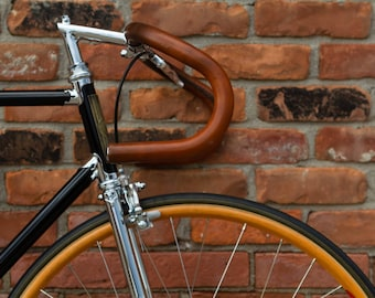 """Sew-on Leather Bicycle Handlebar Wraps - The """"Sew-on Bar Wraps"""" - Leather Handlebar Tape"""