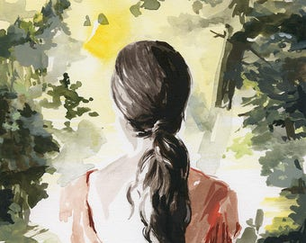 In the Pines .   giclee art print