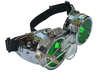 Steampunk Goggles Airship Captain Apocalyptic Mad Scientist Victorian Limited CS G