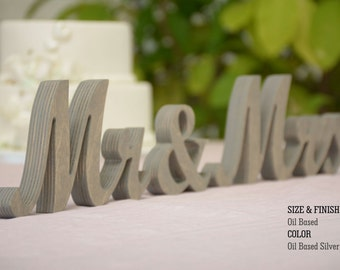 Wedding Signs- Mr & Mrs Wedding Decorations- Wedding decor- Mr and Mrs signs, Mr and Mrs Wood Wedding Decoration