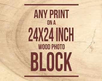 Personalized Decor, Wood Photo Panel, Mounted Photograph, Wall Art - red chestnut, walnut brown, Ready to Hang, Fine Art, Print on Wood