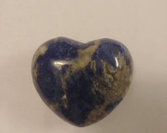 Large Puffy Sodalite Heart
