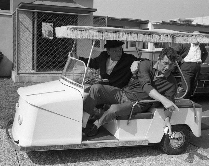Frank Sinatra and Dean Martin on Golf Cart at Warner Bros. - 5X7 or 8X10 Photo (AA-213)