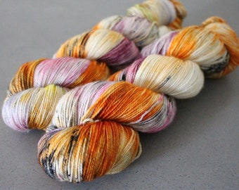 "Magpie - ""Fantastic Mr. Fox"" - Gold Stellina Sock Yarn"