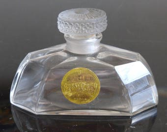 Antique Coty Baccarat Lalique Bouquet Blond Early 1900s Perfume Bottle -Rare!