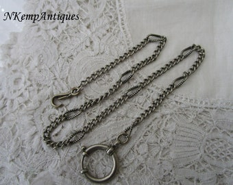 Antique enamel watch chain 1900 for re-purpose