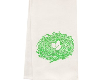 ORGANIC block print nest towel