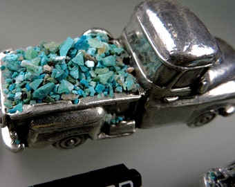Chrysocolla Ray Mine Inlay #5, Crushed Blue Chrysocolla Inlay, Wood Inlay, Jewelry Inlay, Chip Inlay, Gift, Hand Crushed by 49erMinerals