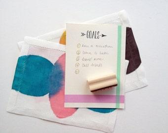 SALE /// Goals rubber stamp
