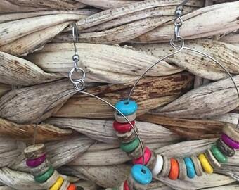 women's earrings, boho earrings, bohemian earrings, ring earring