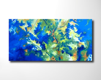 """original oil painting, abstract contemporay wall art, textured home decor, 40"""" x 20"""" x by Oliver Riedel"""