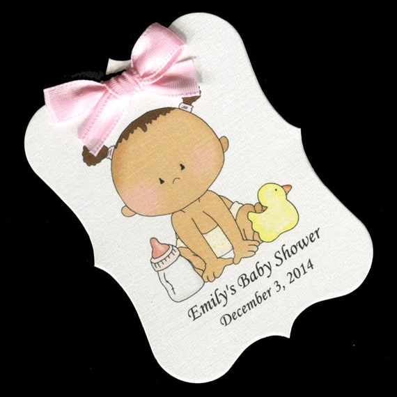 Baby Shower Favor Tags Baby Shower Tags Baby Girl