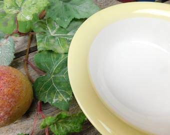 Set of 8 Vintage Homer Laughlin Cereal Salad Bowls - Swing Eggshell Line, Organdy Pattern