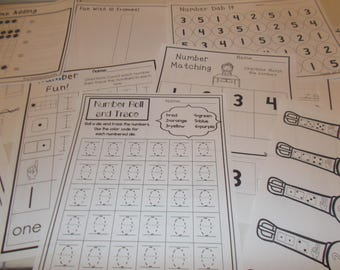 303 Printed Counting and Writing Numbers Worksheets. Preschool-Kindergarten Math.