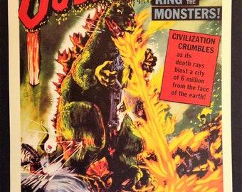 Godzilla Vintage Movie Poster Reproduction // Kaiju // Monster Morives