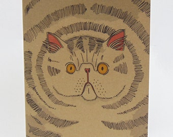 Big Fat Cat Recycled Paper Notebook