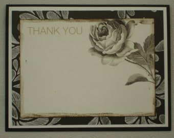 Thank You w/ Brown Ink Border