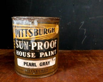 Vintage 1920s-1930s Pittsburgh Plate Glass Company House Paint, Quart