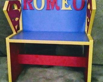 Superheros, children's bench chair