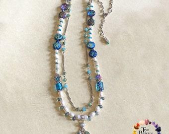 Hamsa Necklace, Hand of Fatima Necklace, Hand of God Necklace, Evil Eye Necklace