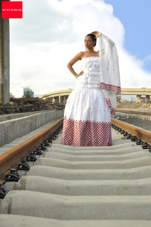 Äthiopische modernen Hochzeitskleid / Habesha Kleid /