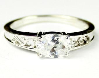 Cubic Zirconia (CZ), 925 Sterling Silver Ladies Ring, SR362