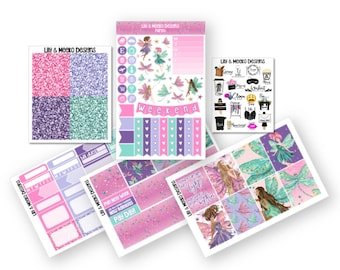 Fairies | Mini Planner Sticker Kit | for use in erin condren vertical life planner