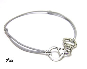 Bracelet grey handcuff