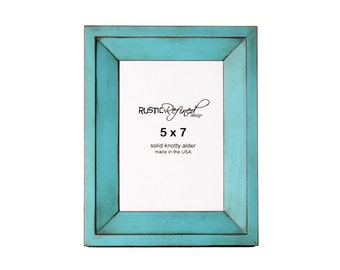 5x7 Haven picture frame - Turquoise, Free Shipping