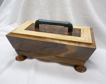Walnut memory box#286