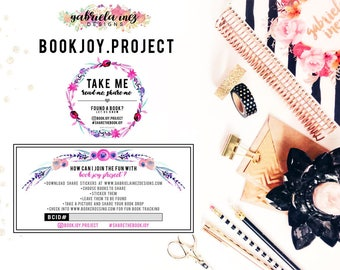 BookJoy.Project Book Sharing Stickers - DIGITAL DOWNLOAD