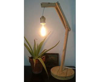 Desk lamp with Edison light