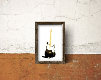 Guitar Print, Music Print, Electric Guitar Print, Fender Print, Vector Print, Minimalist Print