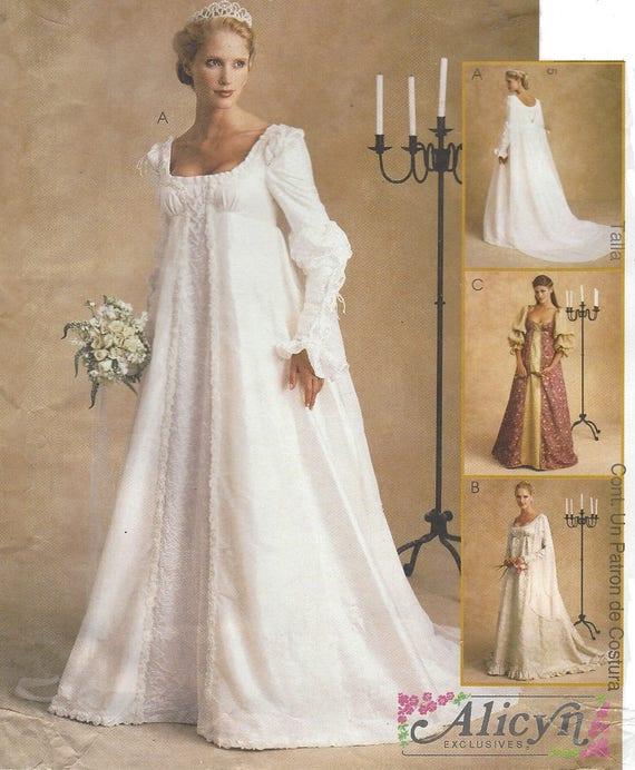 Alicyn Womens Stunning Renaissance Wedding Gown McCalls Sewing