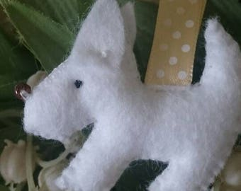 Snowy, the little white dog