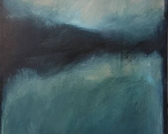 Misty Lake Abstract Expressionist Modern painting
